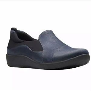 Clarks CloudSteppers Sillian Paz Loafer, Navy 9 W